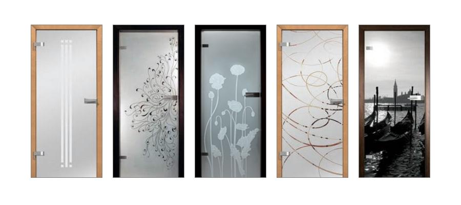 Les portes en verre portes cl tures for Porte en verre