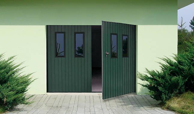 Les portes de garage battantes portes cl tures for Portes de garage battantes